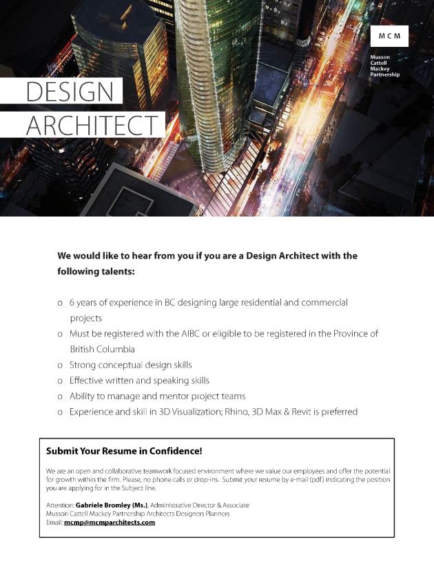 Design Architect (Oct 18 2017)