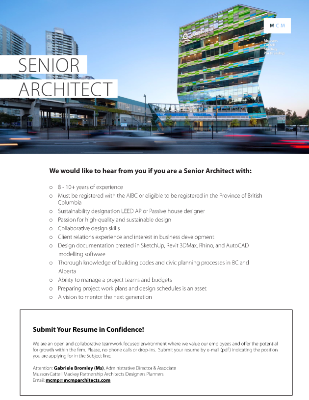 Sr Architect Job Oct 19